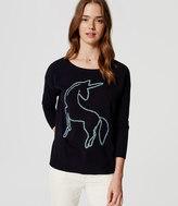 LOFT Unicorn Sweater