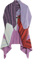 The Elder Statesman Zig Zag Patchwork Cashmere Cardigan - Purple