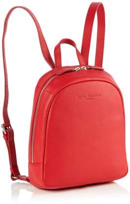 Richmond David Hampton Leather Poppy Mini Backpack In Poppy Red