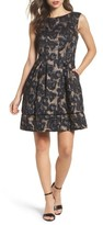 Vince Camuto Petite Women's Burnout Fit & Flare Dress