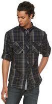 Rock & Republic Men's Modern Plaid Button-Front Shirt