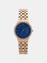 DKNY Park Slope Rose Gold-Tone Stainless Steel Watch With Glitz