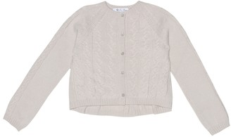 Loro Piana Kids Downy Cables cashmere cardigan