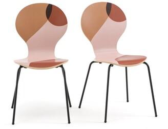 La Redoute La BONNA Patterned Chairs (Set of 2)