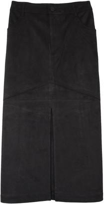 Rodebjer Harmonia Suede Skirt in Black