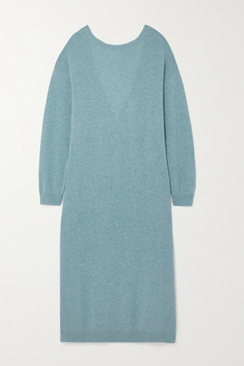 REMAIN Birger Christensen Valcyrie Open-back Merino Wool Midi Dress - Blue