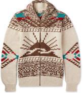 Faherty Sun & Wave Shawl-Collar Merino Wool And Alpaca-Blend Zip-Up Cardigan