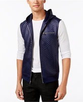 INC International Concepts Men's Diamond Quilted Hooded Vest, Only at Macy's