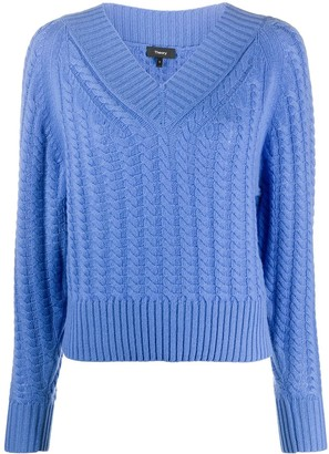 Theory Cable Knit Cashmere Jumper