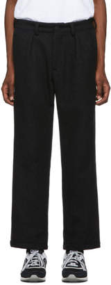 paa Grey Heavy Melton Wool Double Pleat Trousers