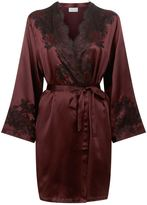 Marjolaine Silk and Lace Short Robe