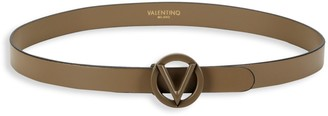 Mario Valentino Baby Logo Leather Belt
