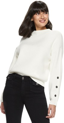 Nine West Women's Funnel Neck Drop Shoulder Pullover