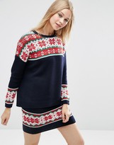 Asos Co-Ord Fairisle Christmas Jumper