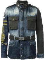 Gabriele Pasini - paneled denim jacket - men - Cotton/Nylon/Mohair/Alpaca - 48