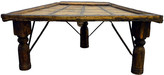 One Kings Lane Vintage Antique Indian Coffee Table - FEA Home - natural