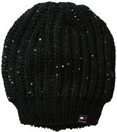 Tommy Hilfiger Women's Chunky Beaded Knit Beanie
