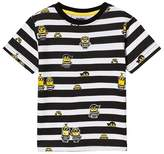Fabric Flavours Black and White Minions Jail Stripe T-Shirt