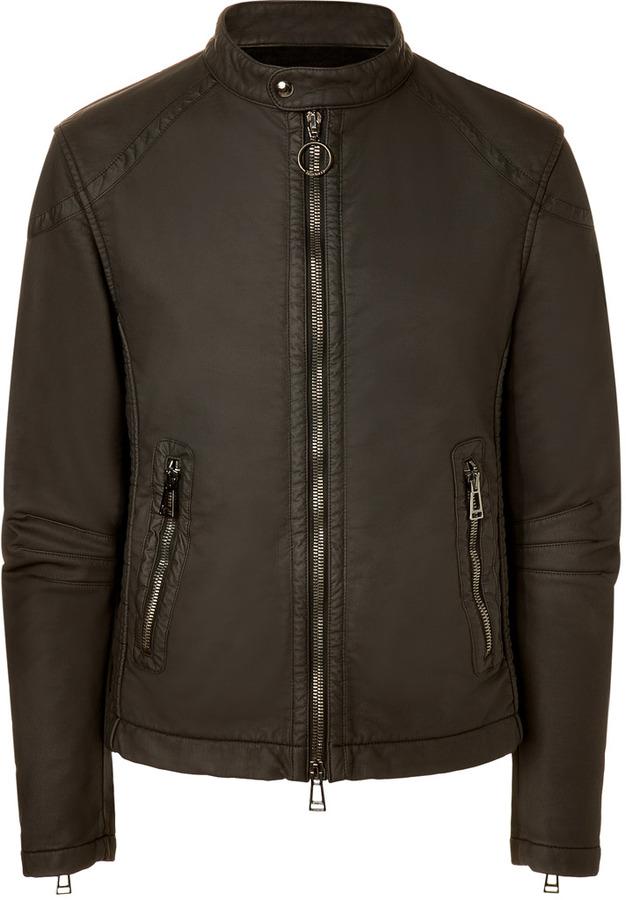 Belstaff Cotton Fairfield Cafe Racer Blouson Jacket in Black