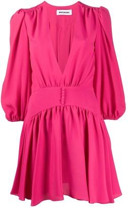 BROGNANO V-neck flared dress