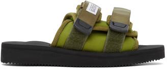 Suicoke SSENSE Exclusive Green MOTO-Cab Sandals