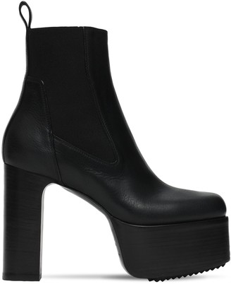 Rick Owens 115mm Kiss Leather Ankle Boots