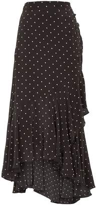 Thurley Polka-Dot Supernatural Midi Skirt