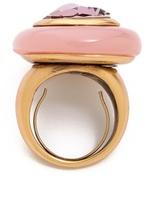 Oscar de la Renta Crystal and Resin Ring