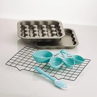 "Baker's Advantage Nonstick Fillable 9"" Square Pan Plus Baking Tools"