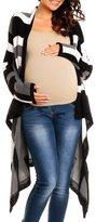 Happy Mama Boutique Happy Mama Womens Maternity Waterfall Cardigan Blazer Knit Coat Long Wrap 349p (, 8/12)