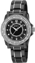 Breil Milano Mantalite Women's Quartz Watch with Black Dial Analogue Display and Black Bracelet TW0987