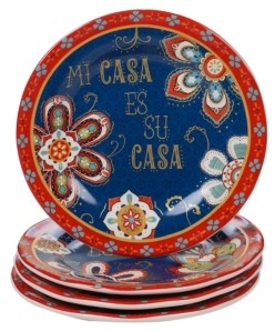 Certified International La Vida 4-Pc. Dessert Plate
