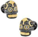 Ox & Bull Trading Co. Men's Sterling Vermeil Day of the Dead Skull Cufflinks