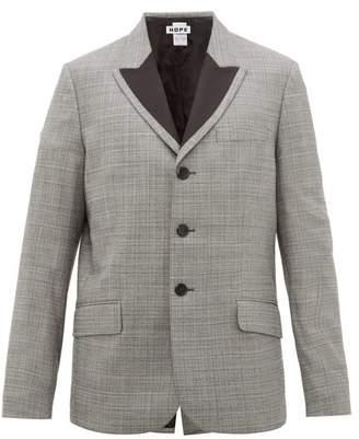 Hope Spark Checked Single-breasted Blazer - Mens - Grey