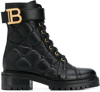 Balmain Ranger quilted ankle boots