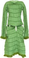 Loewe Micro Pleated Long Sleeve Dress