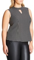 City Chic Plus Size Women's '60S Mod Top