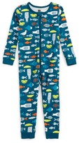 Tea Collection Infant Boy's Fish & Chips One-Piece Fitted Pajamas