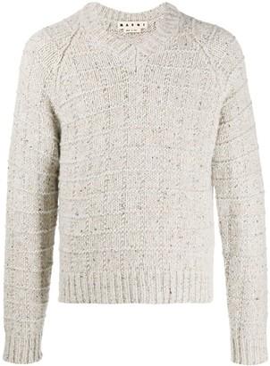 Marni Mottled Crochet Knit Jumper