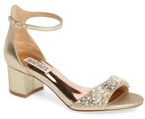 Badgley Mischka Women's Tamara Crystal Block Heel Sandal