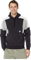 Nike NSW Hoodie Pullover Color Block (Black/Dark Grey Heather/Sail/White) Men's Clothing