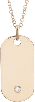 Ron Hami 14K Yellow Gold Diamond Pendant Necklace - 0.03 ctw