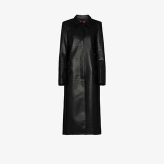 Commission Mock Croc Faux Leather Coat