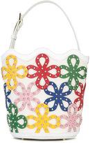 Sara Battaglia 'Flower Bucket' bag - women - Calf Leather/Brass - One Size