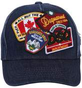 DSQUARED2 Patches Denim Baseball Hat