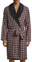 UGG Kalib Plaid Fleece-Lined Robe