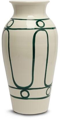 Themis Z - Serenity Ceramic Pottery Vase - Green White