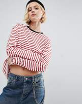 Asos Oversized Striped Long Sleeve T-Shirt