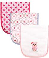 Luvable Friends 3 Piece Burp Cloth with Fiber Filling