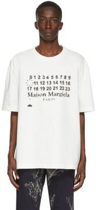 Maison Margiela White Oversized Logotype T-Shirt